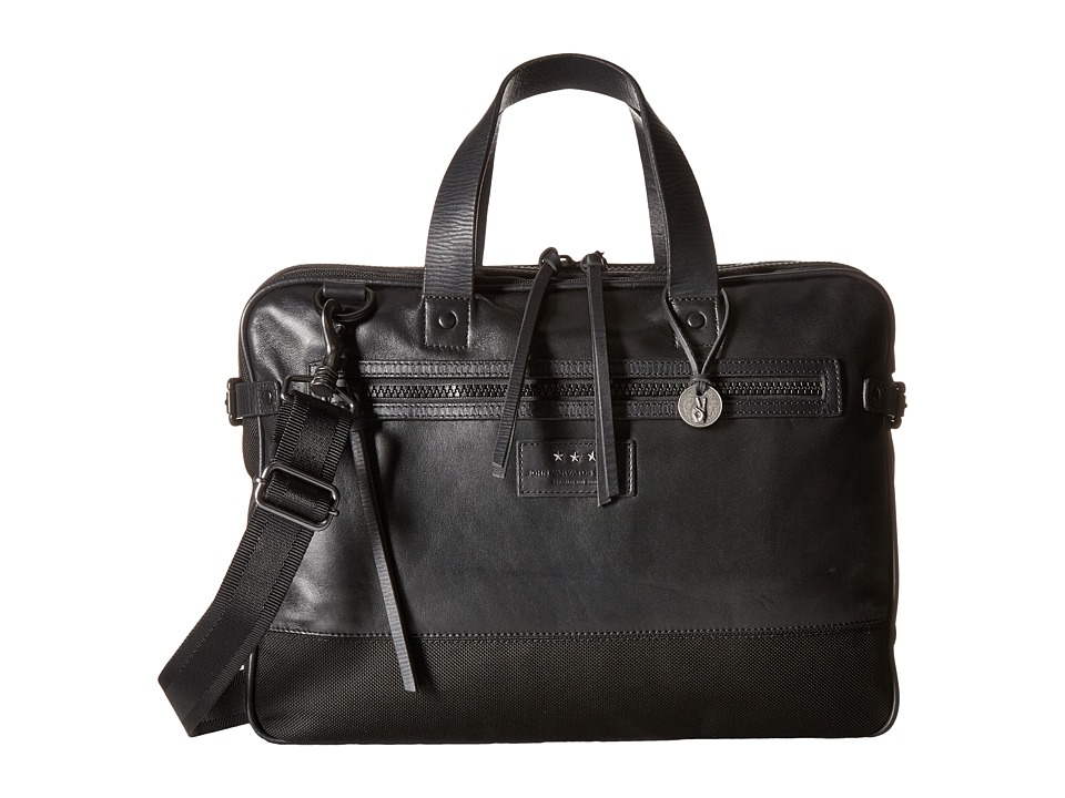 John Varvatos - Detroit Attache (Black) Bags