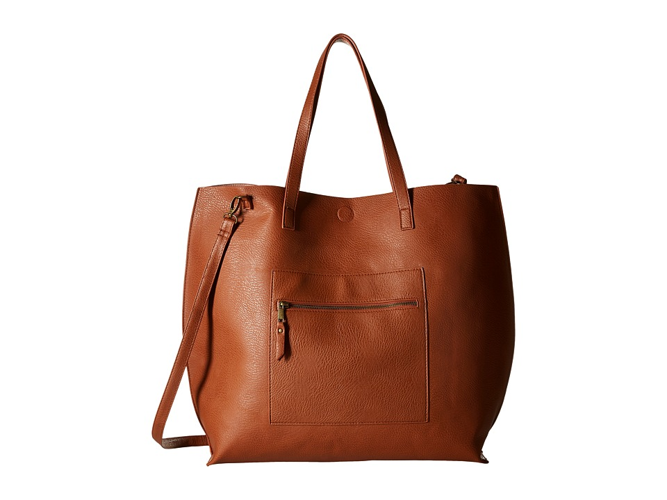 Gabriella Rocha - Nadya Oversized Tote with Attached Coin Purse (Cognac/Blush) Tote Handbags