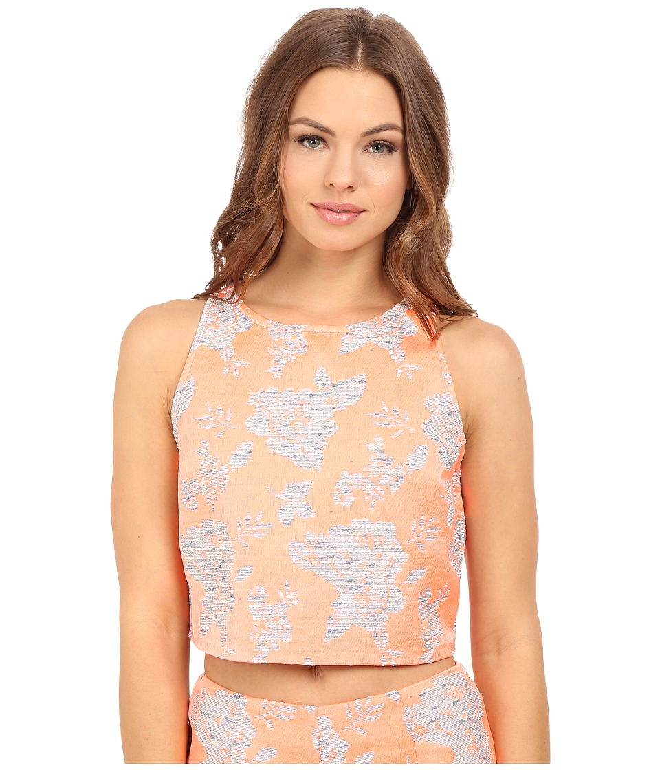 BB Dakota - Reece Floral Jacquard Top (Creamsicle) Women's Clothing
