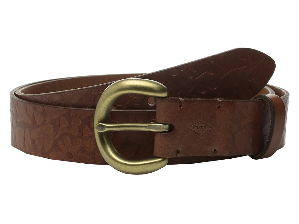 Fossil - Floral Emboss (Tan) Women's Belts