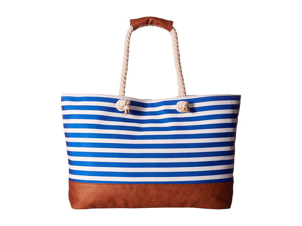 Gabriella Rocha - Frannie Striped Beach Bag (Navy/Off-White) Handbags