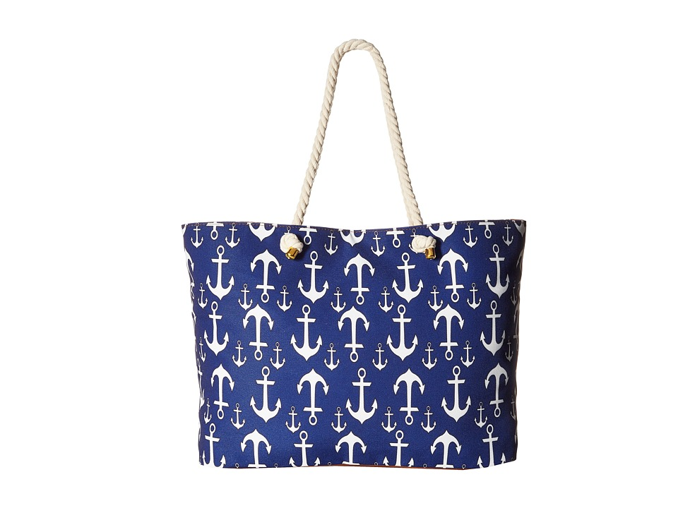 Gabriella Rocha - Gretta Anchor Beach Bag (Navy/White) Handbags