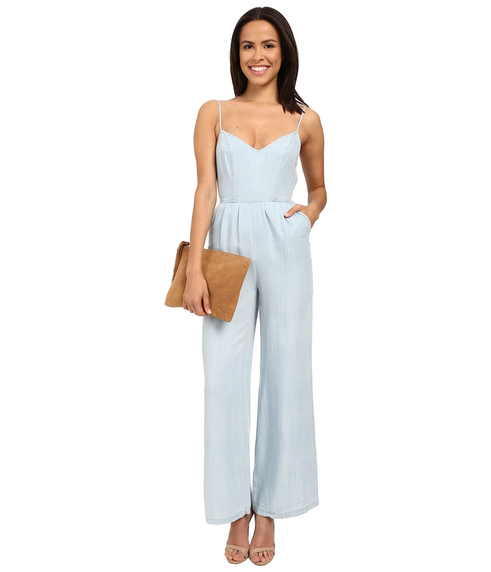 BB Dakota - Elliot Denim Tencel Jumpsuit with Tie Back (Light Blue) Women's Jumpsuit & Rompers One Piece