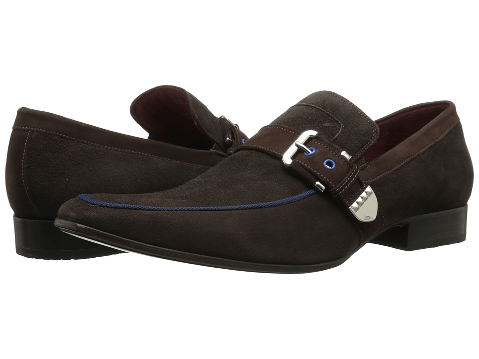 Massimo Matteo - Buckle Slip-On (Brown) Men's Slip on Shoes