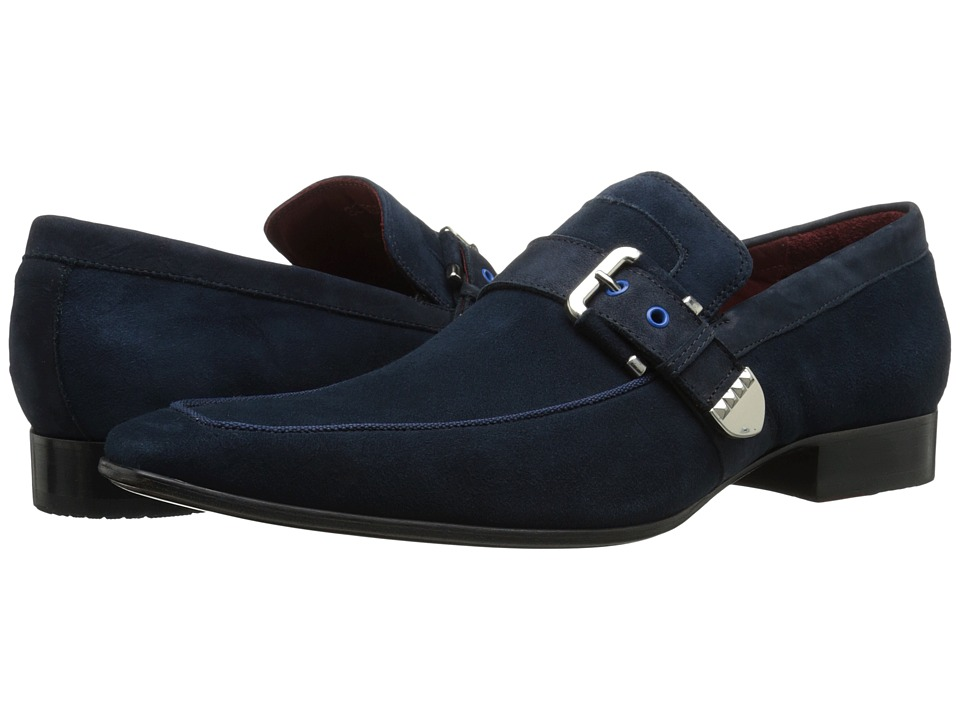 Massimo Matteo - Buckle Slip-On (Navy) Men's Slip on Shoes