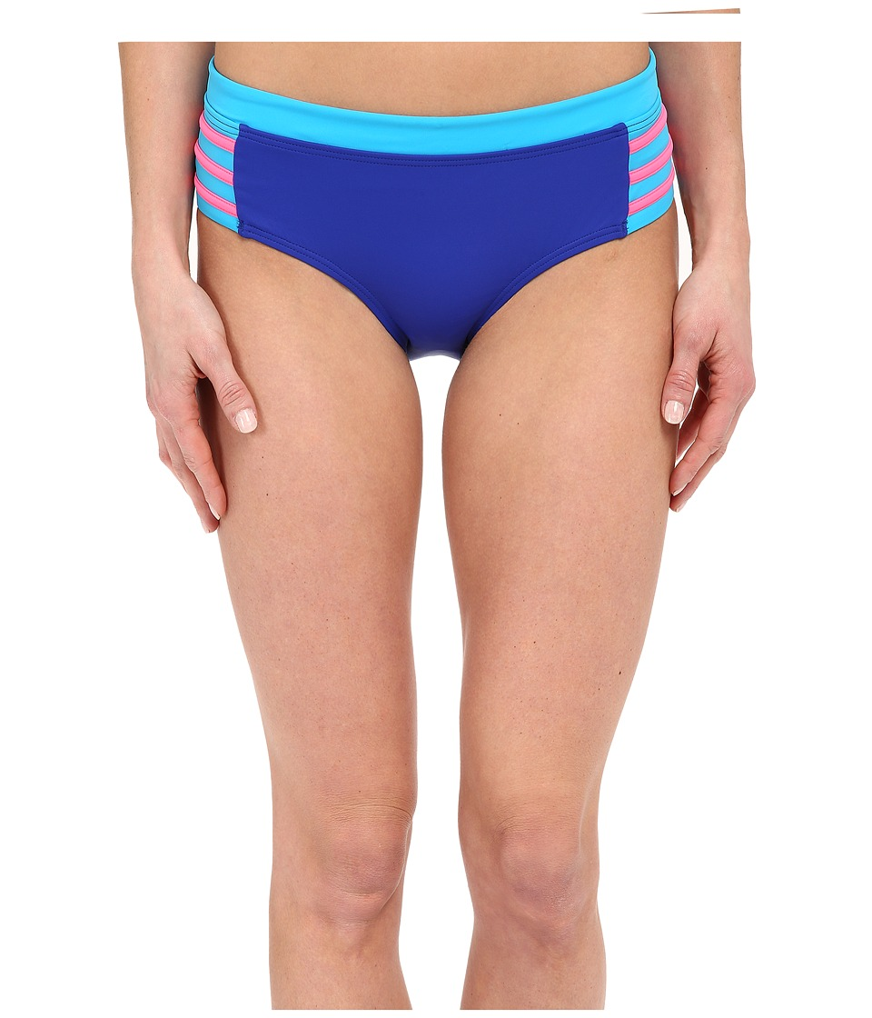 DKNY - A Lister Hipster Bottom w/ Stripping Detail (Electric) Women's Swimwear