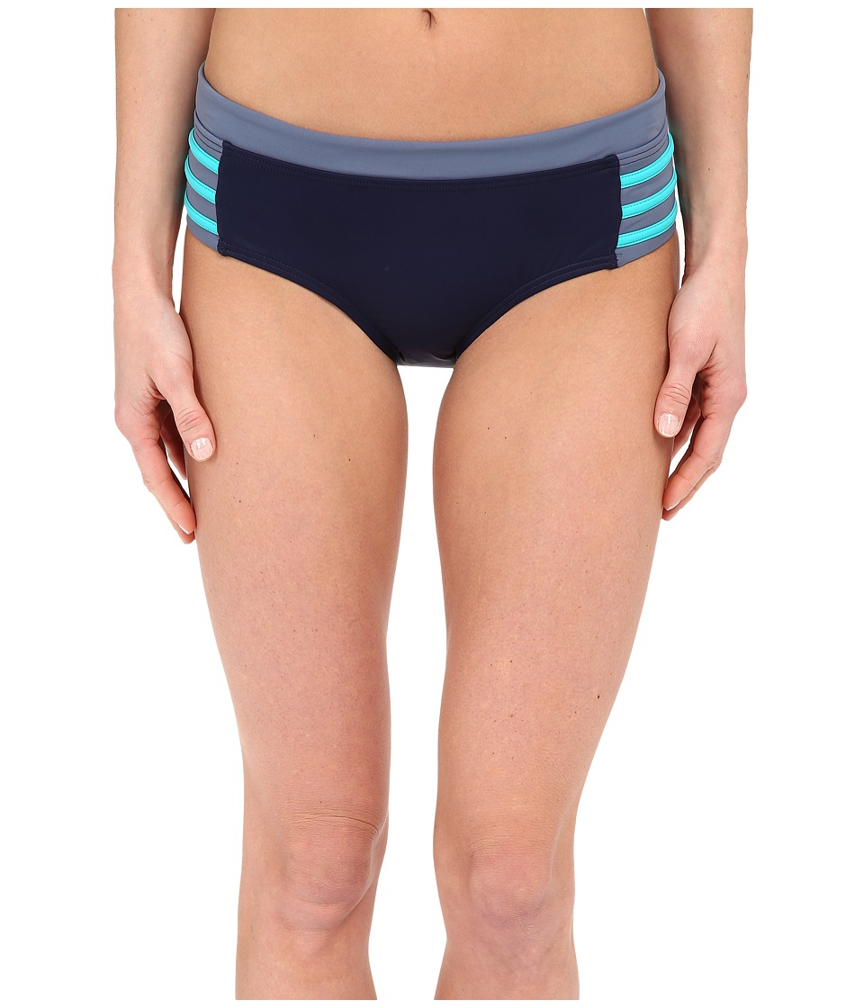 DKNY A Lister Hipster Bottom w/ Stripping Detail (Currant) Women