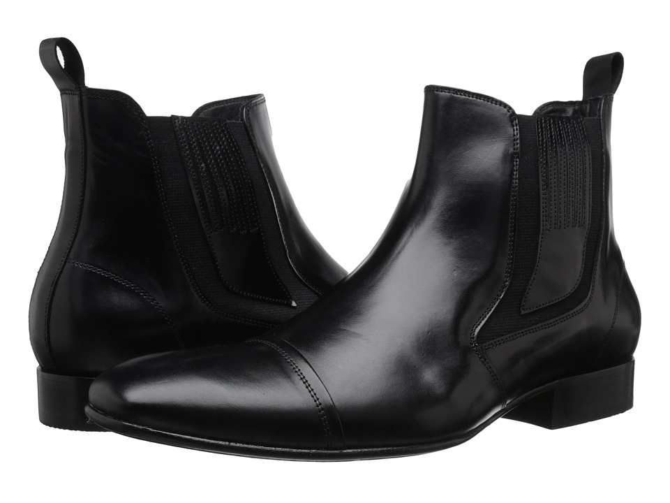 Massimo Matteo - Chelsea Cap Toe Gore Boot (Black) Men's Pull-on Boots