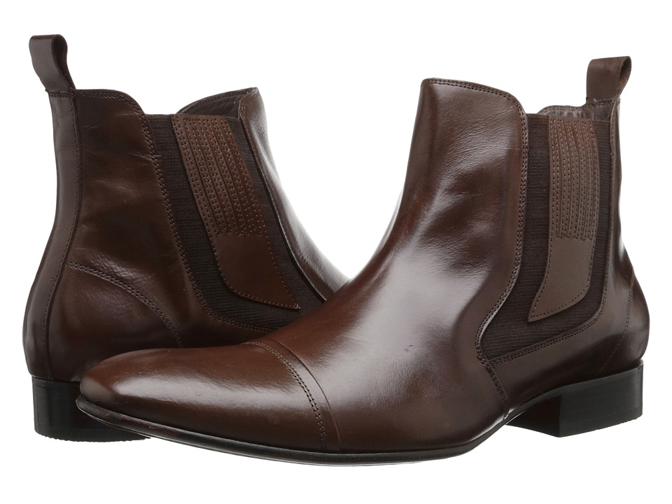 Massimo Matteo - Chelsea Cap Toe Gore Boot (Brown) Men's Pull-on Boots