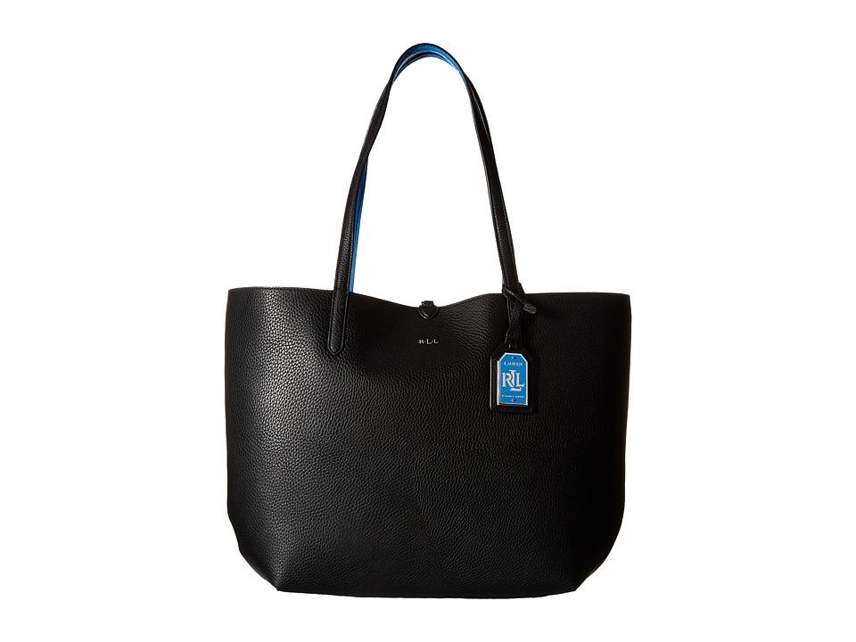 LAUREN Ralph Lauren - Milford Olivia Tote (Black/Cyan) Tote Handbags