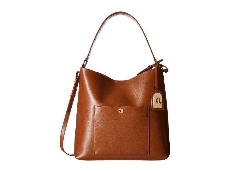 LAUREN Ralph Lauren - Newbury Pocket Hobo (Lauren Tan) Hobo Handbags