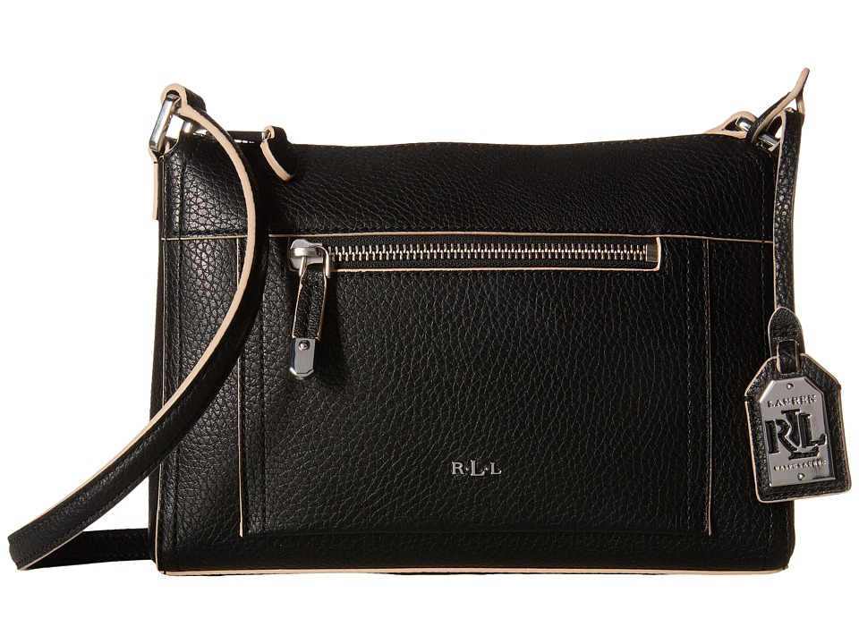 LAUREN Ralph Lauren - Paley Leigh Crossbody (Black) Cross Body Handbags