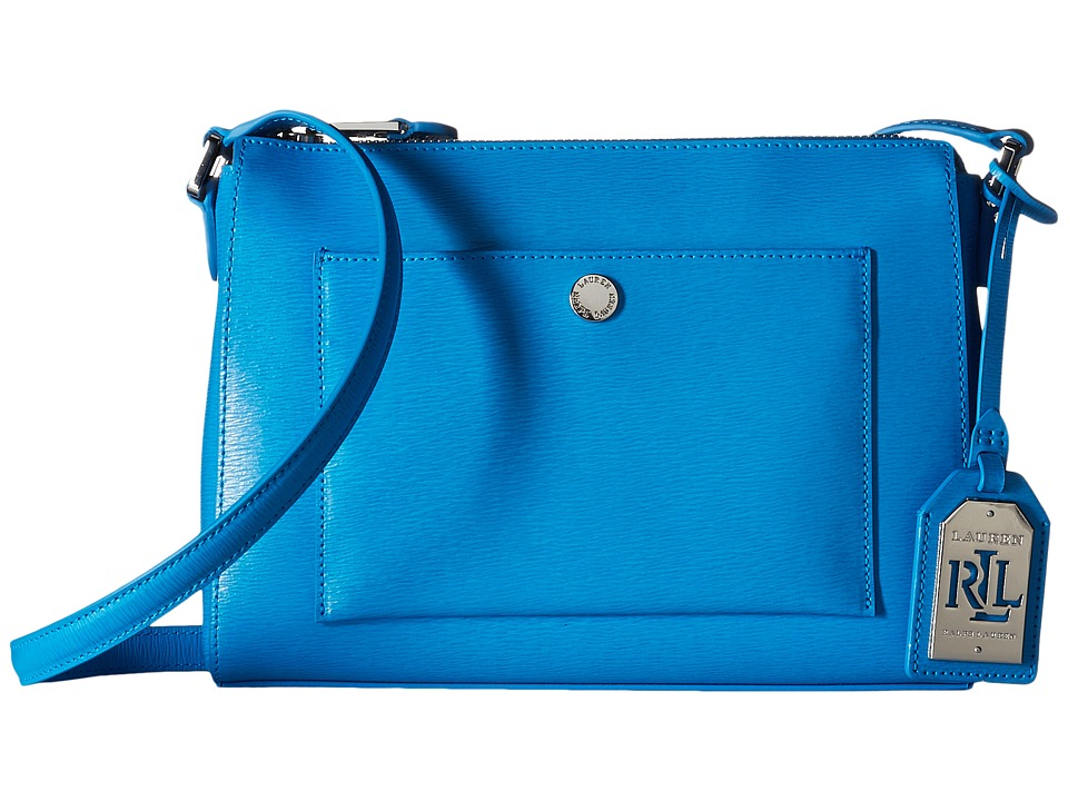 LAUREN Ralph Lauren - Newbury Pocket Crossbody (Cyan) Cross Body Handbags