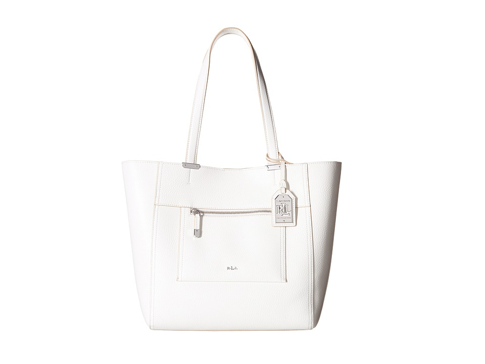 LAUREN Ralph Lauren - Paley - Lauryn Tote (Bright White) Tote Handbags