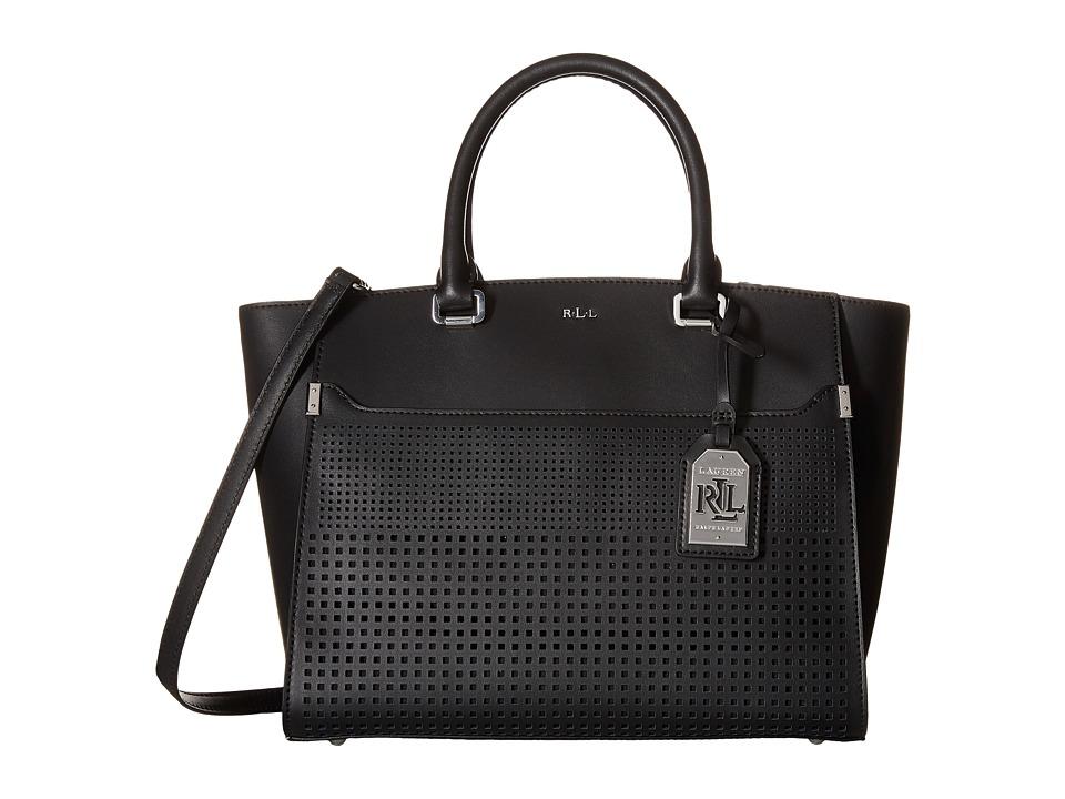 LAUREN Ralph Lauren - Sutton Odette Tote (Black) Tote Handbags