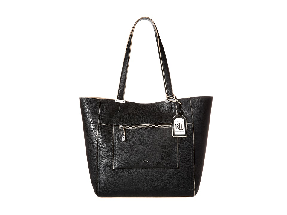 LAUREN Ralph Lauren - Paley - Lauryn Tote (Black) Tote Handbags