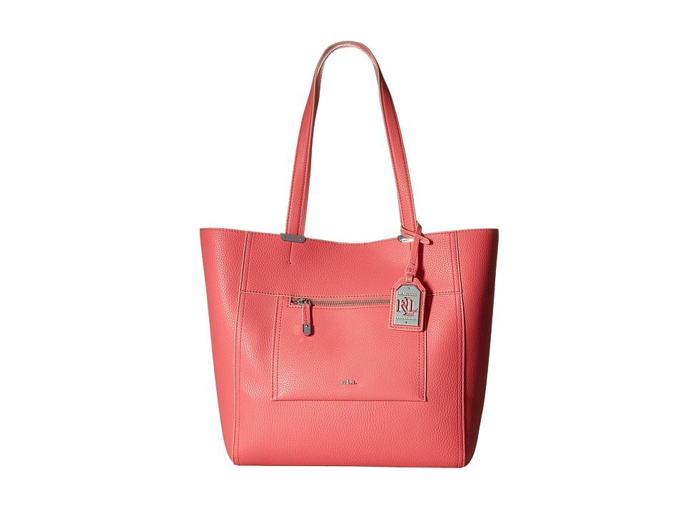 LAUREN Ralph Lauren - Paley - Lauryn Tote (Coral) Tote Handbags