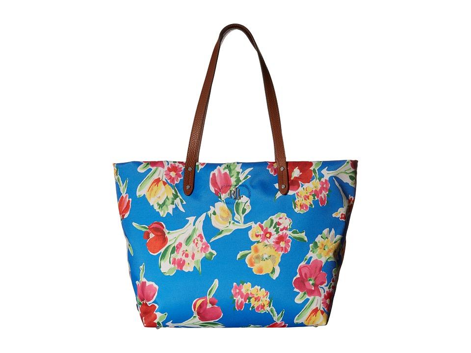 LAUREN Ralph Lauren - Bainbridge Tote (Blue Floral) Tote Handbags