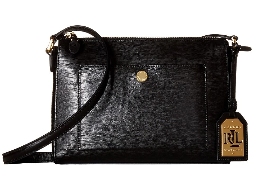 LAUREN Ralph Lauren - Newbury Pocket Crossbody (Black) Cross Body Handbags