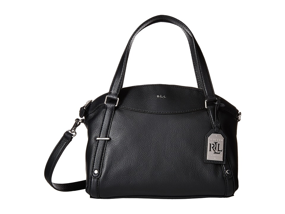 LAUREN Ralph Lauren - Grafton Falan Satchel (Black) Satchel Handbags