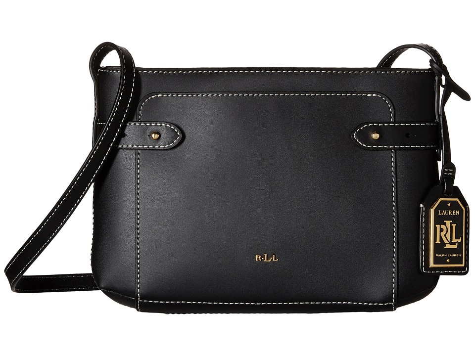 LAUREN Ralph Lauren - Harper Jacqueline Crossbody (Black) Cross Body Handbags