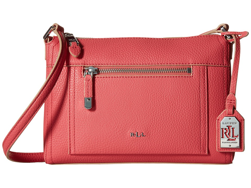 LAUREN Ralph Lauren - Paley Leigh Crossbody (Coral) Cross Body Handbags