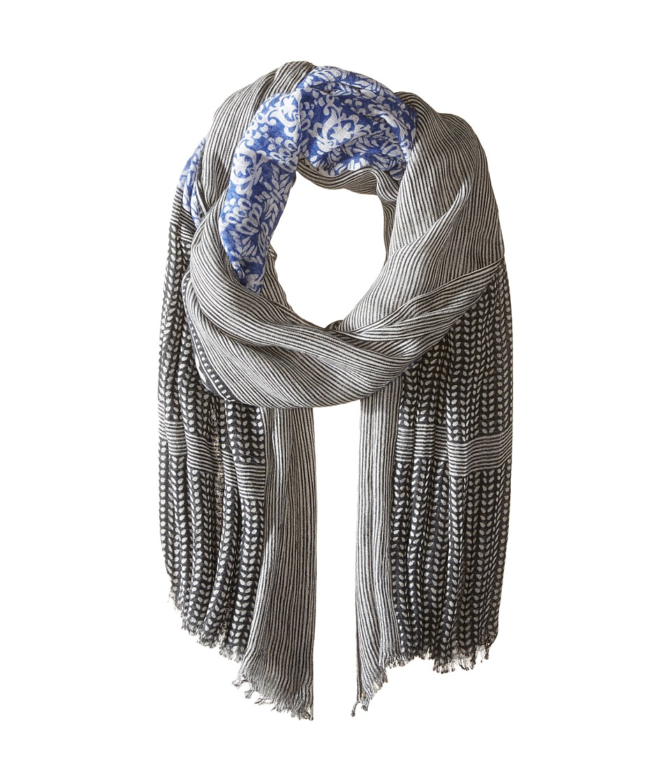 Steve Madden - Porcelain Princess Printed Day Wrap (Sapphire) Scarves