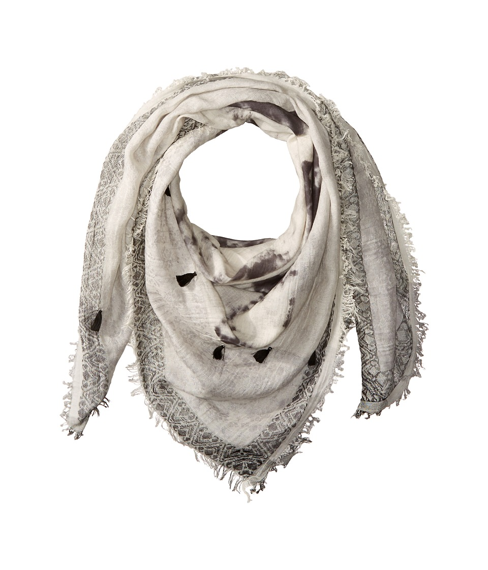 Steve Madden - Tie-Dye Jacqard Square Day Wrap (Neutral) Scarves
