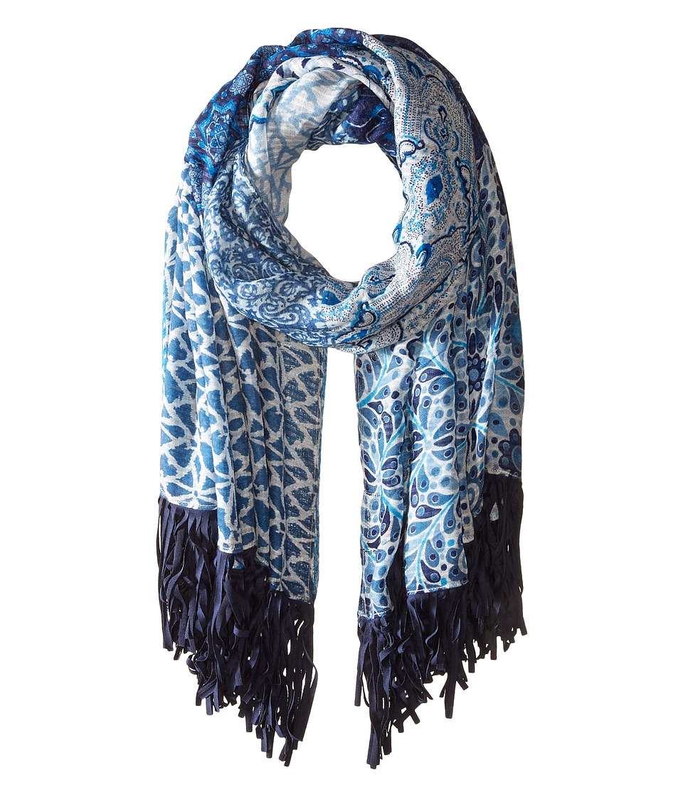 Steve Madden - Hippie Patchwork Day Wrap (Denim) Scarves