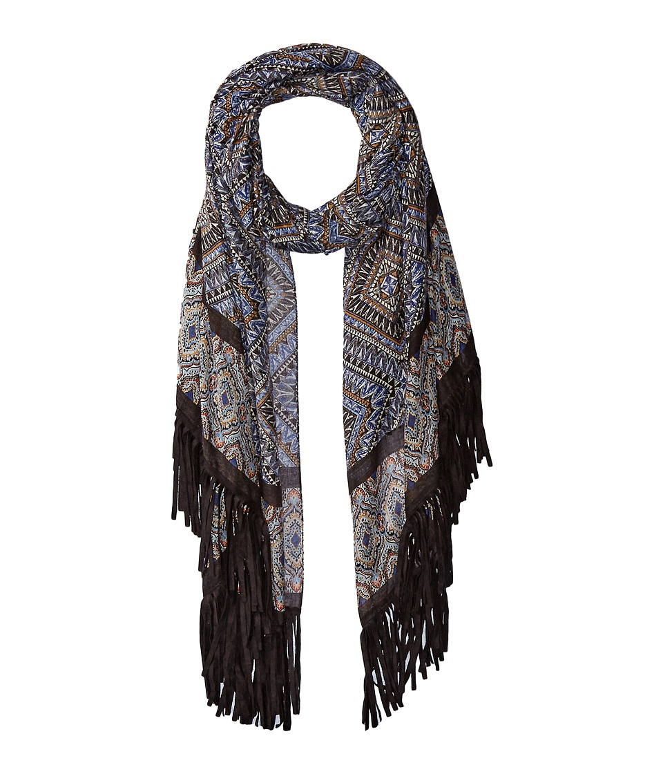 Steve Madden - Tahitian Tribal Day Wrap (Denim) Scarves