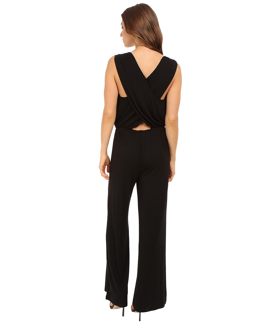 BB Dakota - Ollie Rayon/Span Cross Back Jumpsuit (Black) Women's Jumpsuit & Rompers One Piece