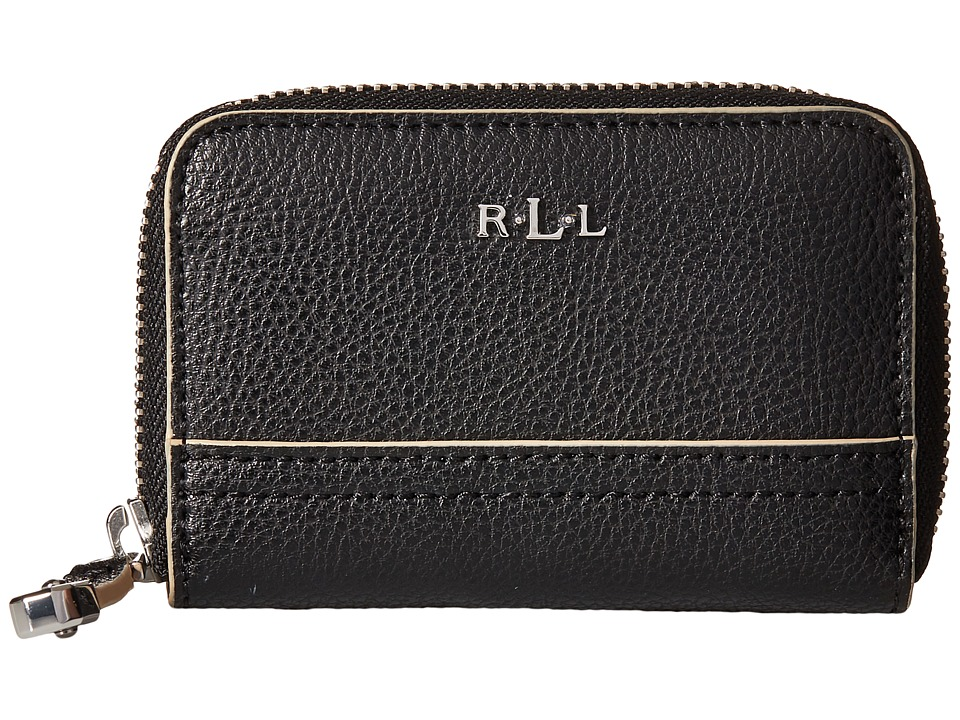 LAUREN Ralph Lauren - Paley Zip Key/Coin (Black) Coin Purse