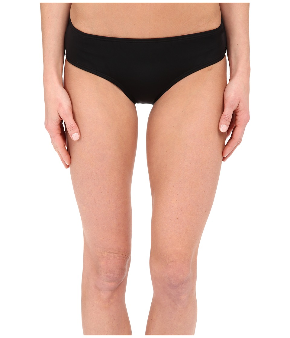 DKNY - Street Cast Solids Hipster Bottom (Black) Women's Swimwear