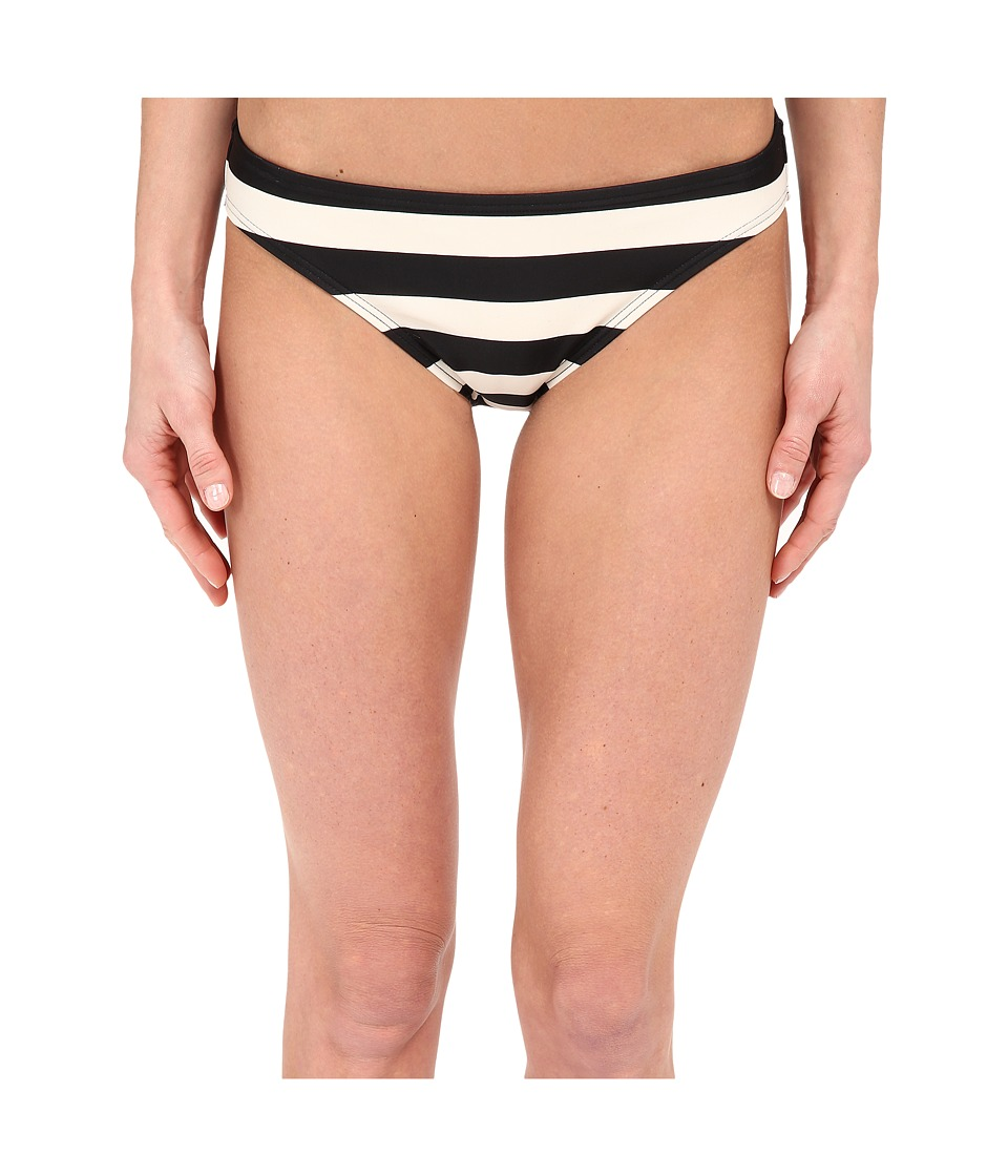 DKNY - Iconic Stripe Classic Bottom (Black) Women's Swimwear