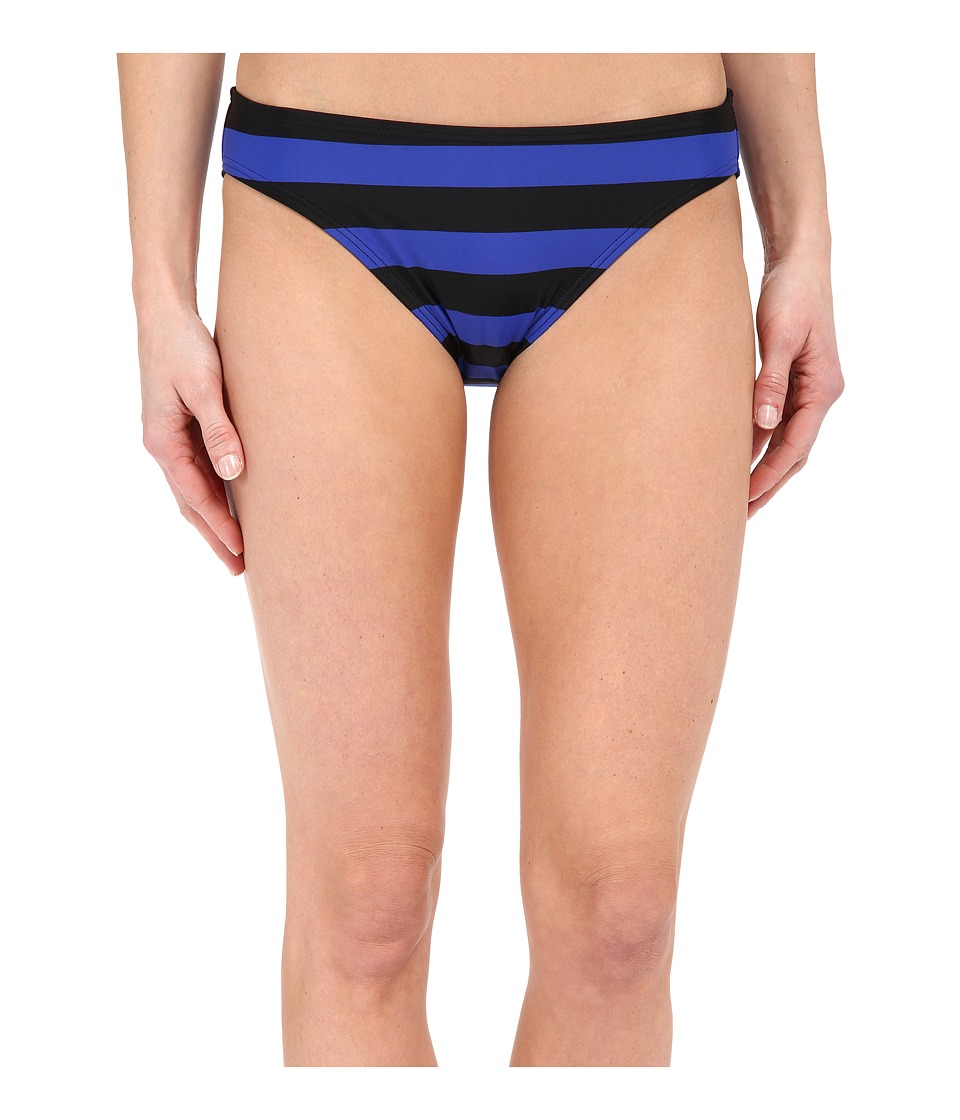 DKNY Iconic Stripe Classic Bikini Bottom (Electric) Women