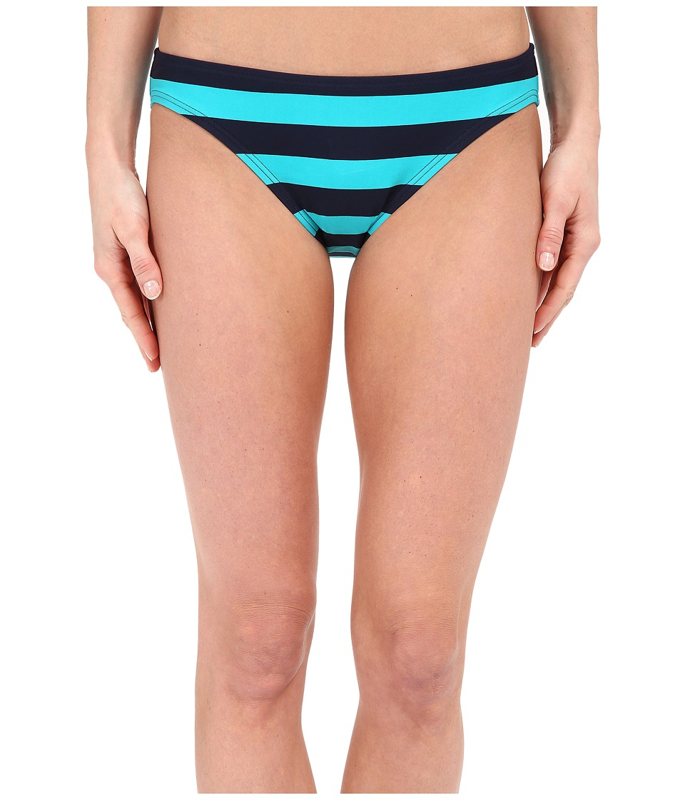 DKNY - Iconic Stripe Classic Bottom (Currant) Women's Swimwear