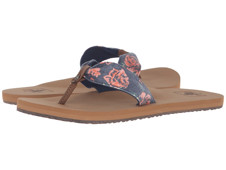 Reef - Scrunch TX (Navy Rose) Women's Sandals