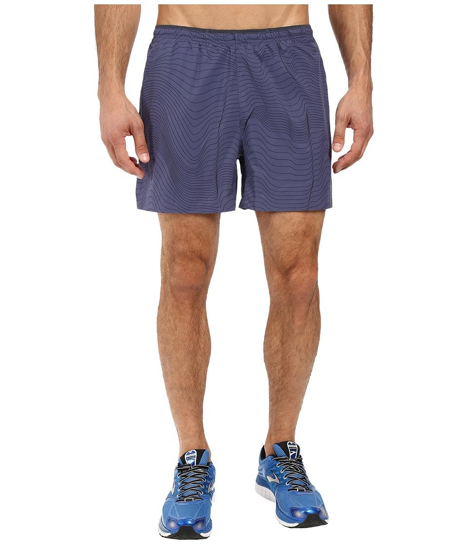 Brooks - Sherpa 5 2-in-1 Shorts (Coast Forge) Men's Shorts