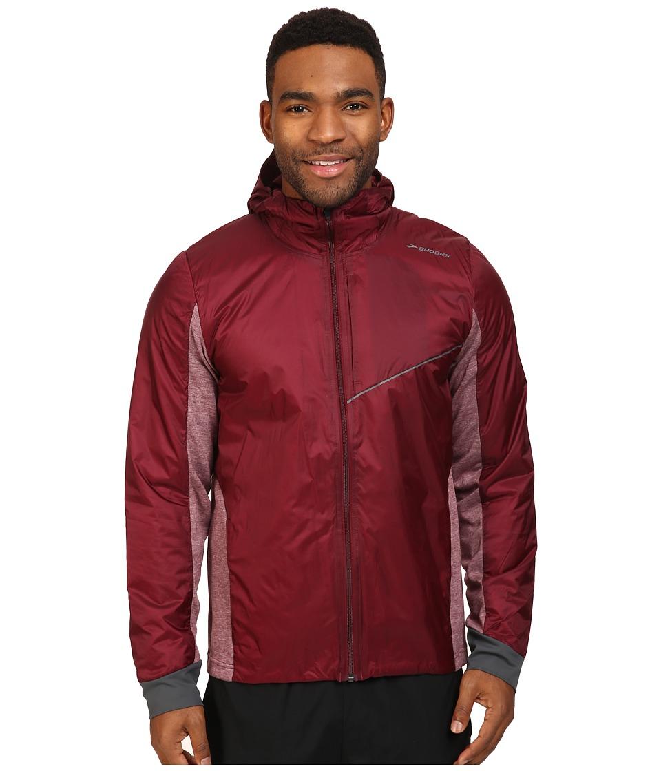 Brooks - LSD Thermal Jacket (Root/Heather Root) Men's Coat