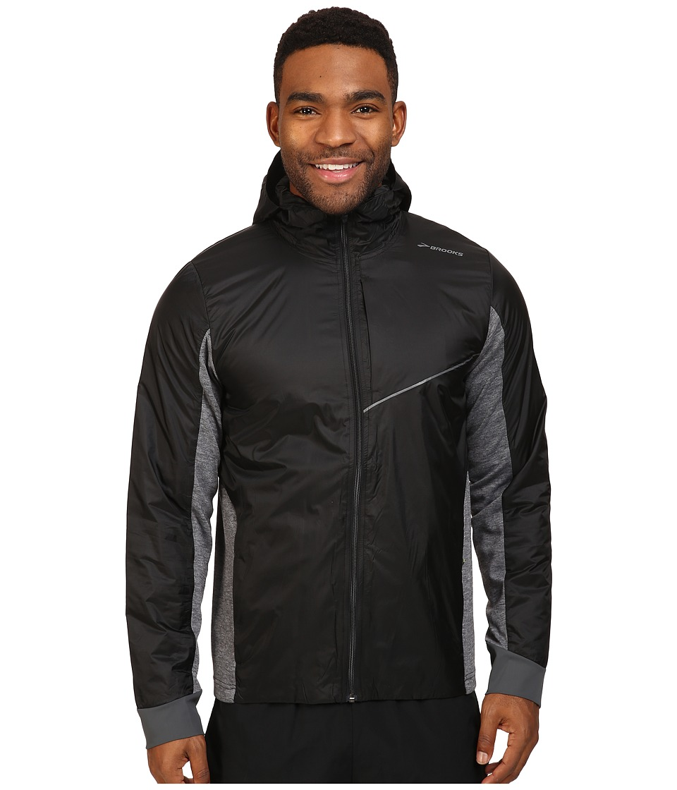 Brooks - LSD Thermal Jacket (Black/Heather Black) Men's Coat