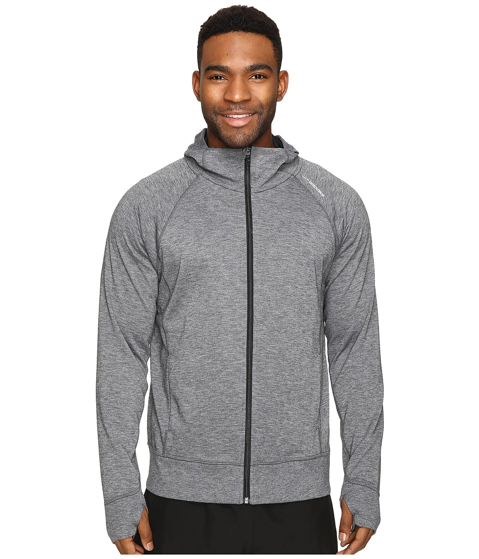Brooks - Joyride Hoodie (Heather Black) Men's Sweatshirt