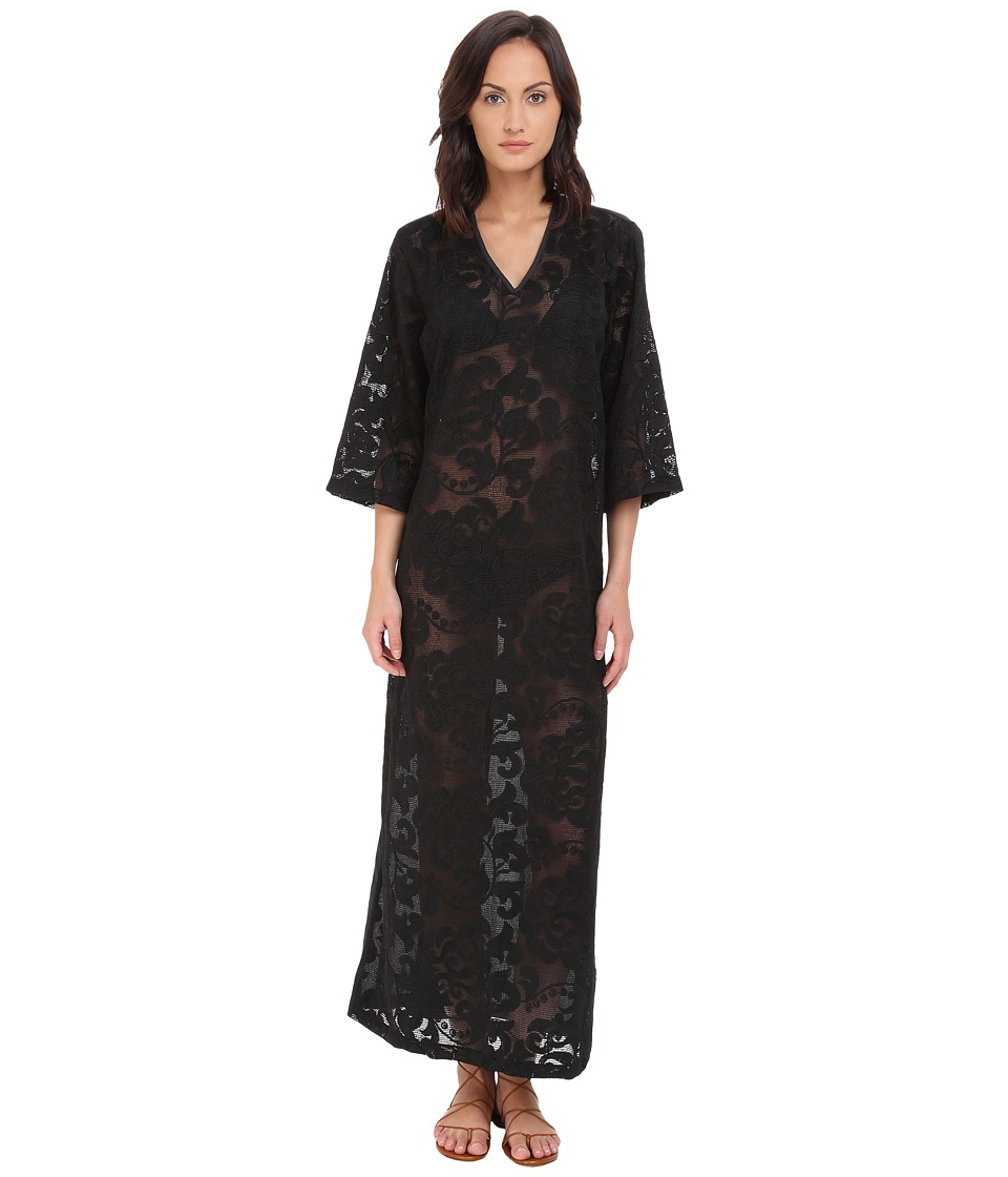Agua De Coco by Liana Thomaz - Lace Long Dress Cover-Up (Lace Black) Women's Dress
