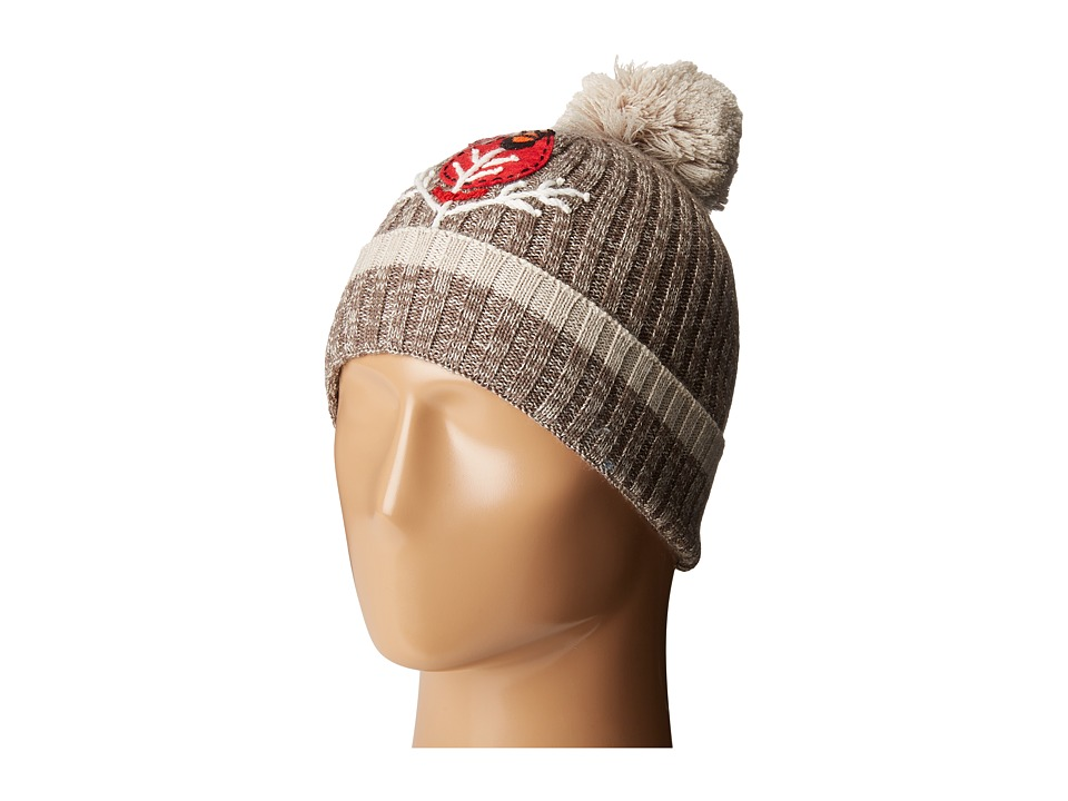 Smartwool - Charley Harper Cardinal Pom Beanie (Taupe) Beanies