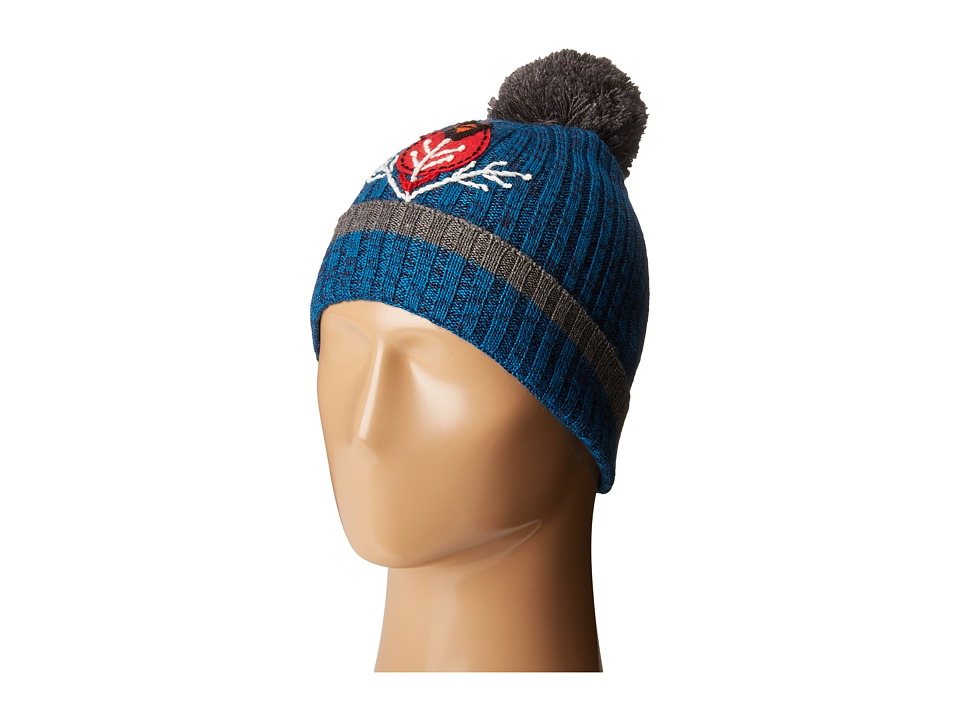 Smartwool - Charley Harper Cardinal Pom Beanie (Glacial Blue) Beanies