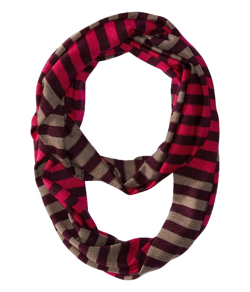 Smartwool - Ponderosa Stripe Scarf (Berry) Scarves