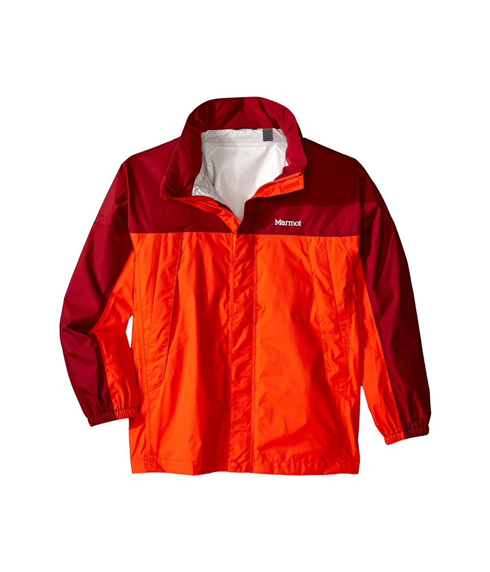 Marmot Kids - PreCip Jacket (Little Kids/Big Kids) (Mars Orange/Brick) Boy's Coat