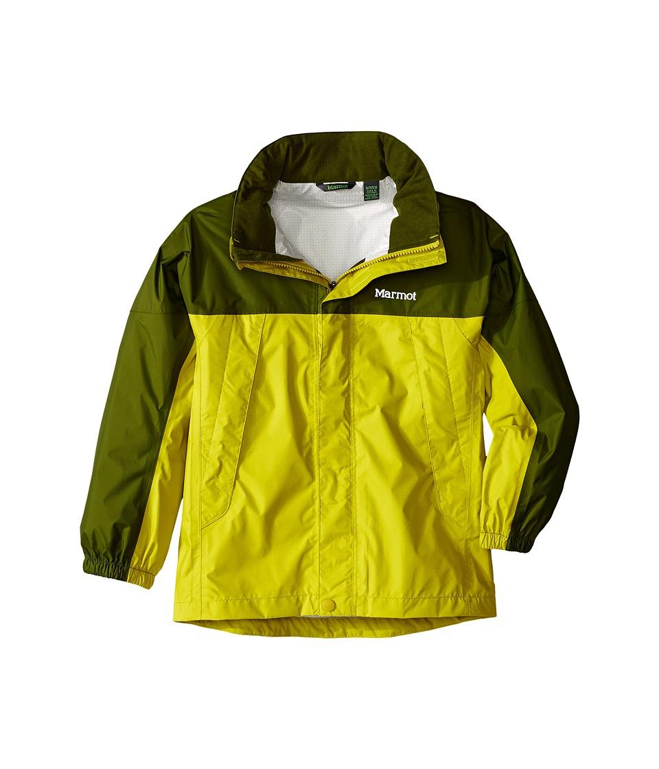 Marmot Kids - PreCip Jacket (Little Kids/Big Kids) (Citronelle/Greenland) Boy's Coat