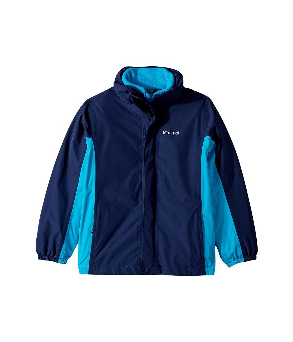 Marmot Kids - Northshore Jacket (Little Kids/Big Kids) (Arctic Navy/Bahama Blue) Boy's Coat