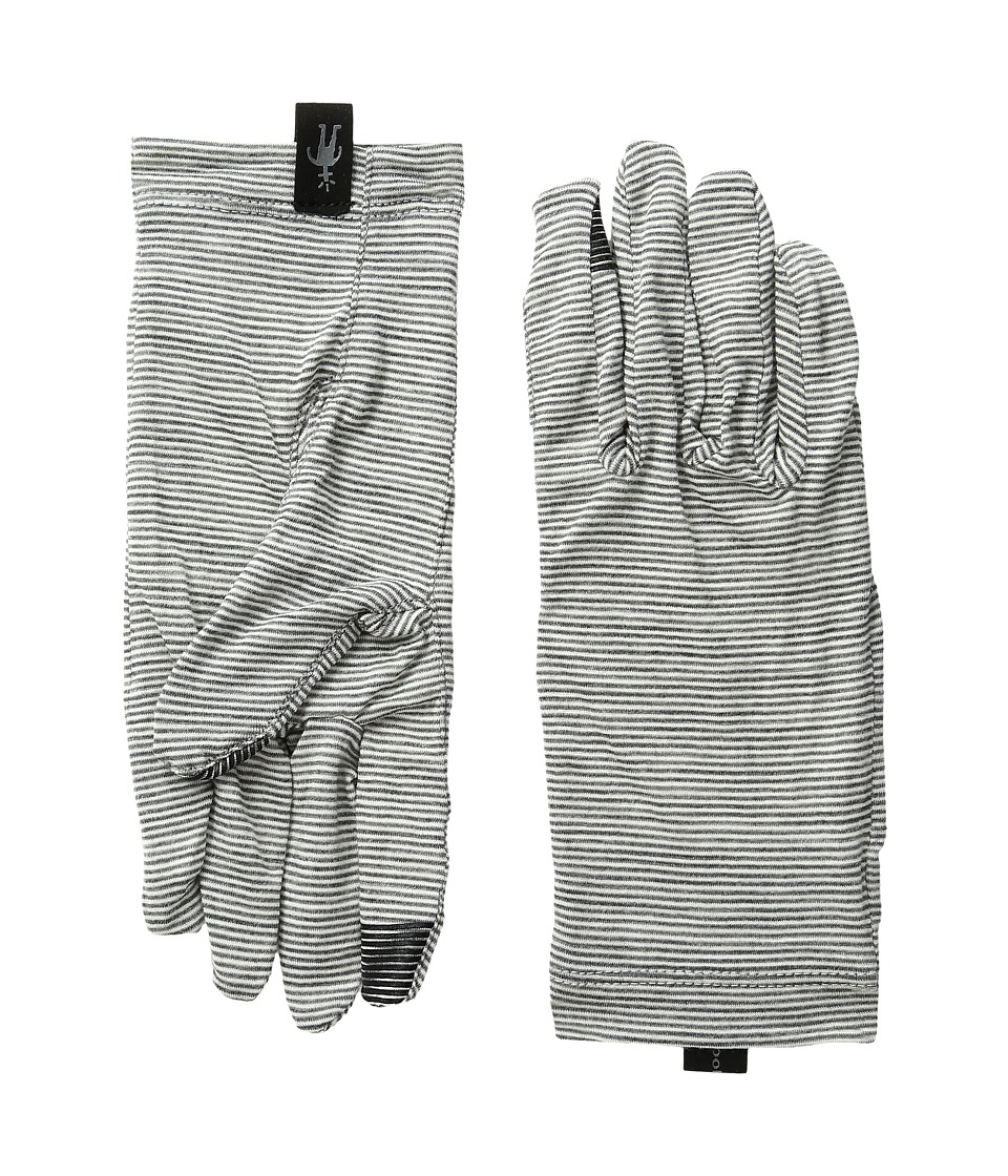 Smartwool NTS Micro 150 Pattern Gloves (Silver Grey Heather) Wool Gloves