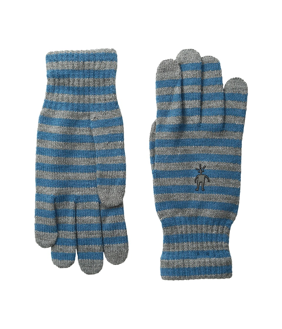 Smartwool - Striped Liner Glove (Glacial Blue Heather) Extreme Cold Weather Gloves